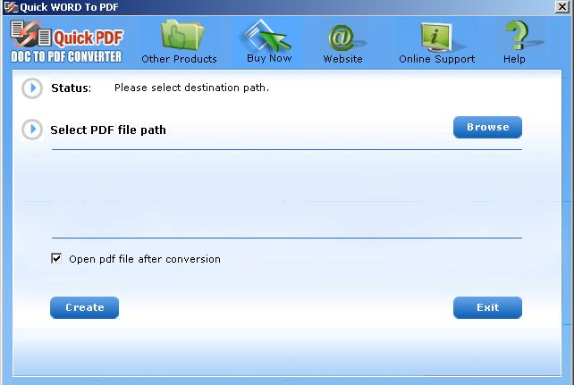 Convert to PDF with Word to PDF Converter